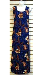 Blue Long Dress with Flower Print $20